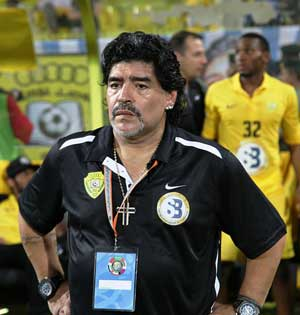 Fakta: Maradona under Champions League-finalen i 2012